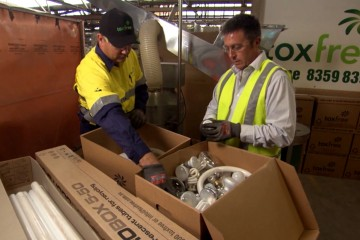 Recyclying Light Bulbs