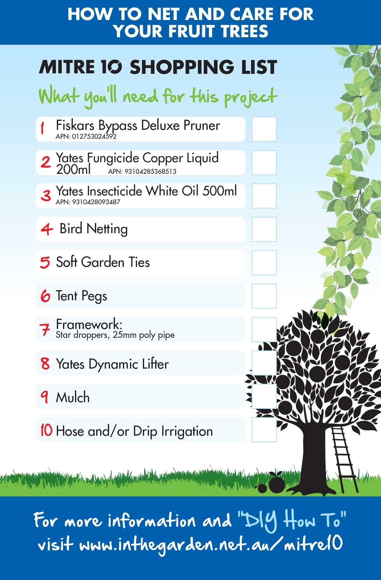 Diy Fruit Tree Netting